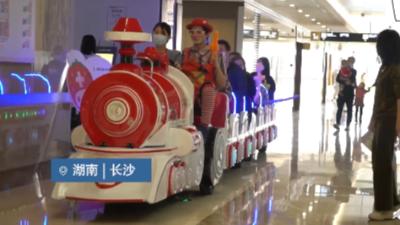 无轨观光小火车助力儿童就诊服务